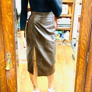 Dresses & Skirts - Leather Pencil Skirt